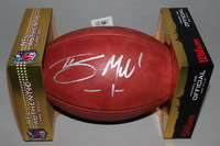 NFL - TEXANS BRAXTON MILLER SIGNED AUTHENTIC FOOTBALL