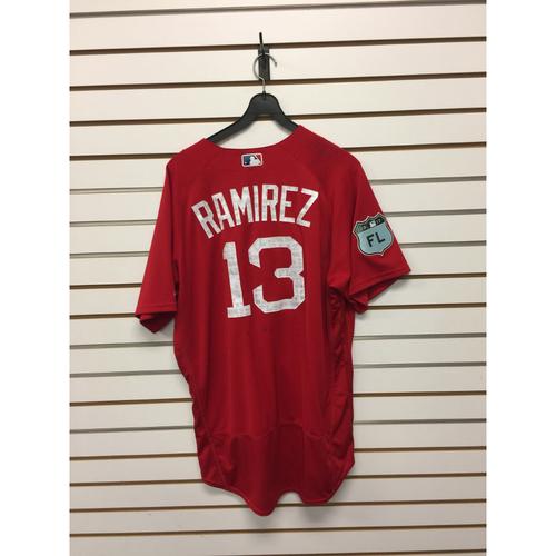 Hanley Ramirez Team-Issued 2017 Spring Training Jersey