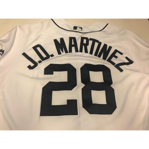 2017 Game-Used JD Martinez Home Jersey