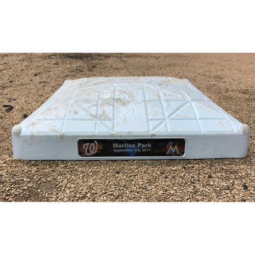 Game-Used Base: Washington Nationals vs Miami Marlins (Sep. 4, 2017)