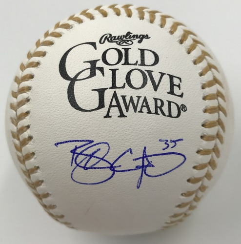 Photo of Brandon Crawford Autographed Gold Glove Logo Baseball