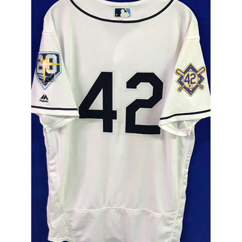 Photo of 2018 Jackie Robinson Day Game Used Jersey - Nathan Eovaldi