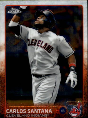 Photo of 2015 Topps Chrome #97 Carlos Santana