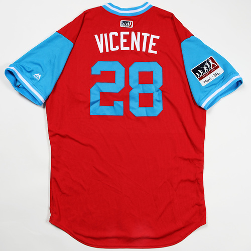 "Photo of Vince ""Vicente"" Velasquez Philadelphia Phillies Game-Used Jersey 2018 Players' Weekend Jersey"