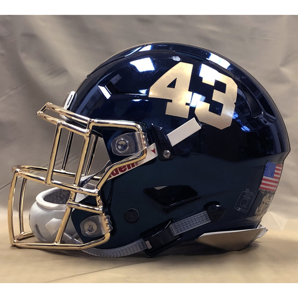Photo of #43 Game Worn  Fear the Goat Army/Navy Game Football Helmet