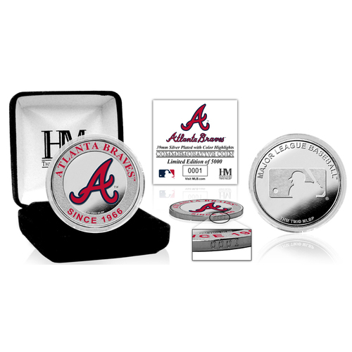 Photo of Serial #1! Atlanta Braves Silver Color Coin