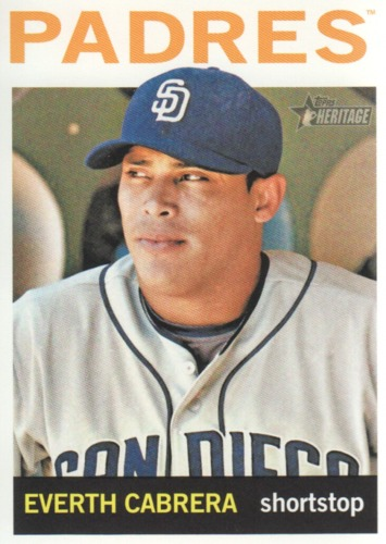 Photo of 2013 Topps Heritage #178 Everth Cabrera