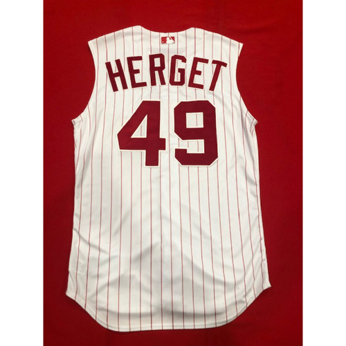 Jimmy Herget -- Game-Used 1995 Throwback Jersey & Pants -- D-backs vs. Reds on Sept. 8, 2019 -- Jersey Size 44 / Pants Size 34-39-21
