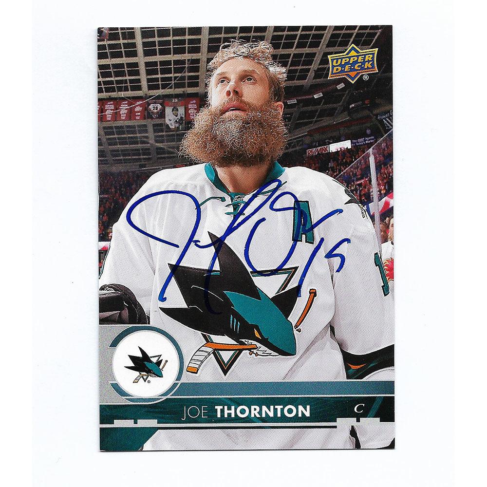 Joe Thornton Autographed 2017-18 Upper Deck Jumbo Hockey Card