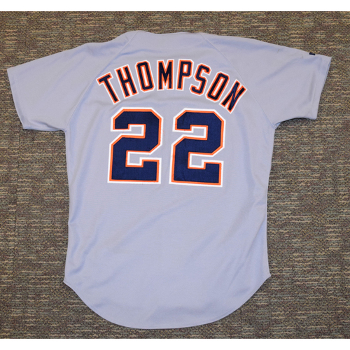 Photo of Justin Thompson Clubhouse Issued Detroit Tigers #22 Road Jersey (NOT MLB AUTHENTICATED)