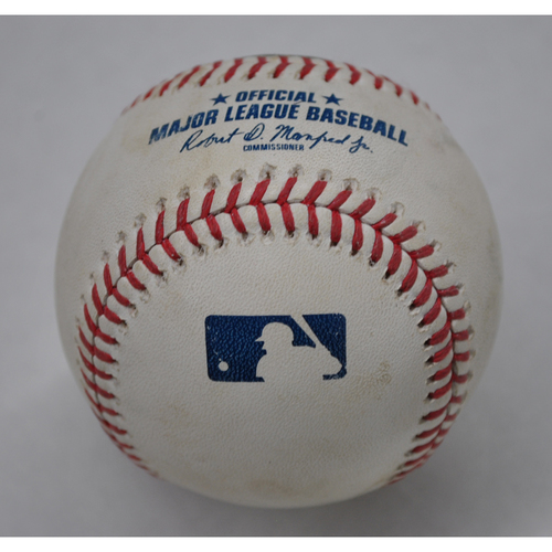 Photo of Game-Used Baseball - 9/13/2020 - Chicago Cubs vs. Milwaukee Brewers - Alec Mills No-Hitter