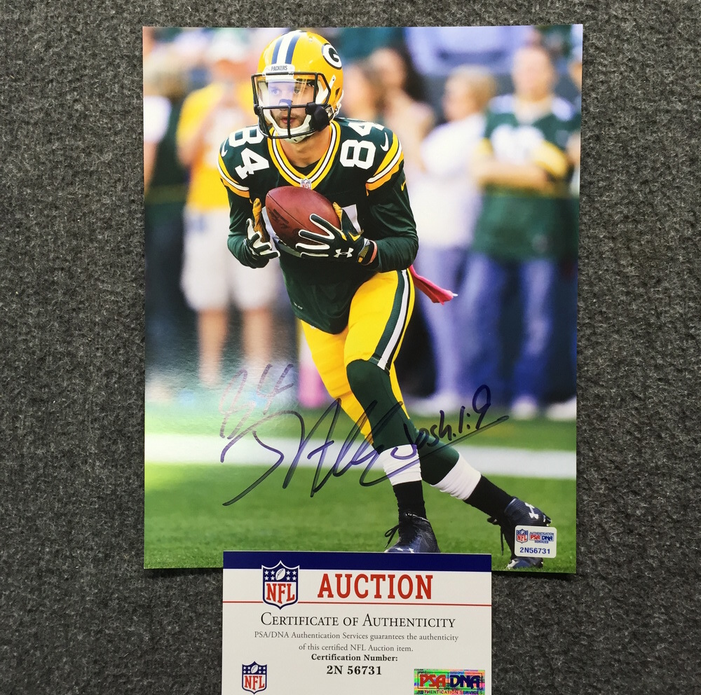NFL Auction | PCF - Packers Jared Abbrederis Signed 8x10 Photo