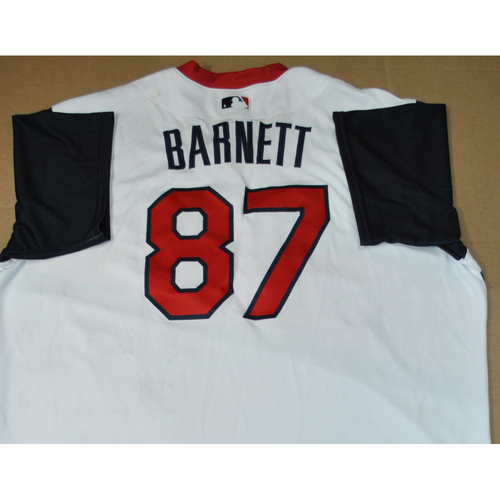 Photo of Team Issued Jersey - 2021 Little League Classic - Los Angeles Angels vs. Cleveland Indians - 8/22/2021 - Great Lakes, Coach Mike Barnett #87 - Major League Replay Coordinator and Staff Assistant
