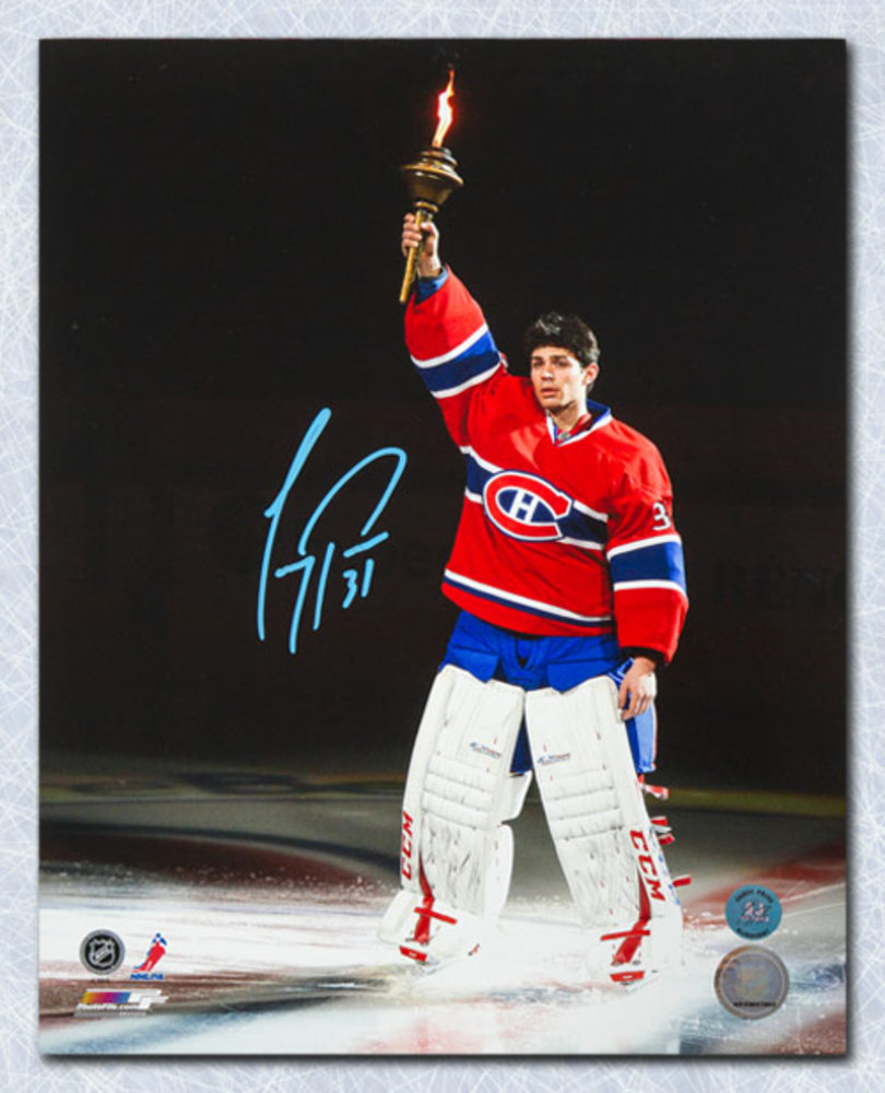 Carey Price Montreal Canadiens Autographed Torch Ceremony 11x14 Photo