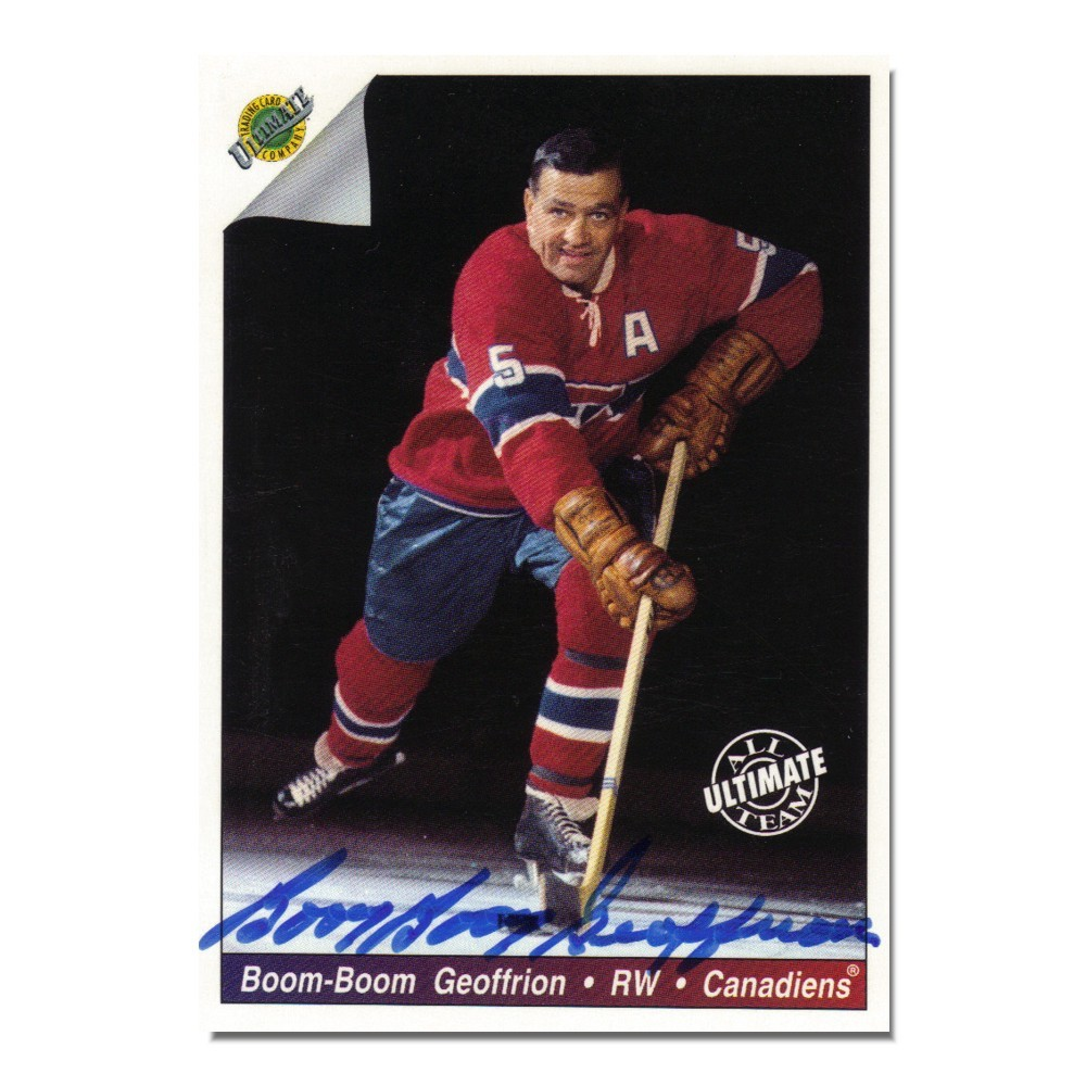 Bernie Geoffrion autographed Montreal Canadiens 1992 Ultimate Trading Card