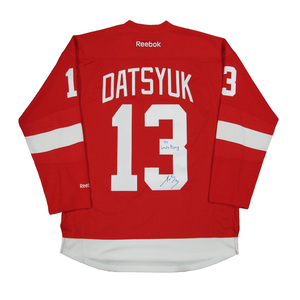 2f0e0d5f4 PAVEL DATSYUK Signed Detroit Red Wings Red Reebok Jersey with