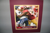 REDSKINS - RICKY JEAN FRANCOIS SIGNED 8X10 PHOTO W/ MATTE