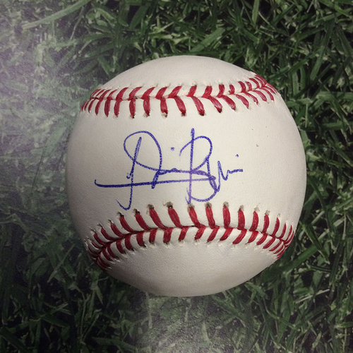 Lewis Brinson Autographed Baseball