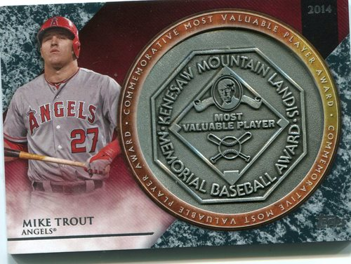 Photo of 2017 Topps Update MVP Award Relics #MVPRMTR Mike Trout