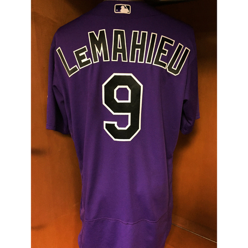 Photo of Colorado Rockies DJ LeMahieu Game-Used Jersey