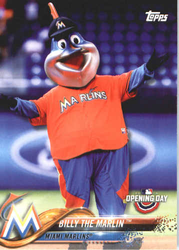 Photo of 2018 Topps Opening Day Mascots #M12 Billy the Marlin