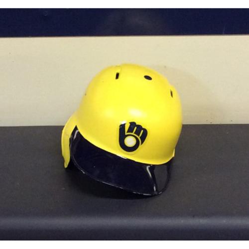 "Photo of Eric ""MR. TEE"" Thames Game-Used 2018 Players Weekend Batting Helmet"