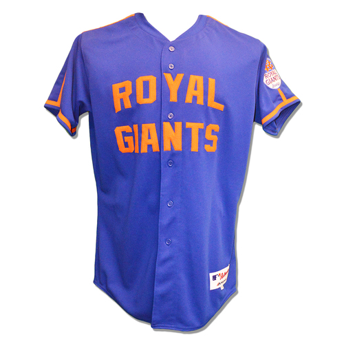 Photo of Michael Conforto #30 - Team Issued Royal Giants Jersey - 2016 Season