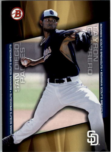 Photo of 2014 Bowman Draft Scouts Breakout #BSBTG Tayron Guerrero