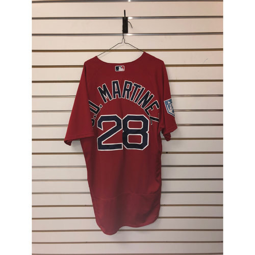 new product 8ed60 edc3e Red Sox Auctions | JD Martinez Team-Issued 2019 Spring ...