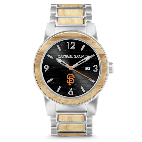 Photo of San Francisco Giants - Reclaimed Baseball Bat Watch