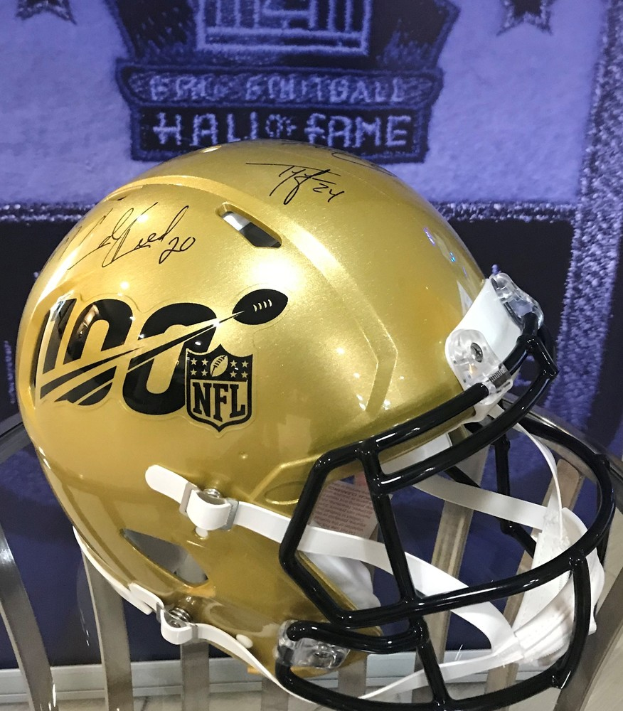 2019 HOF Class Multi Signed NFL 100 Proline Helmet (Tony Gonzalez, Ed Reed, Champ Bailey,Ty Law, Kevin Mawae, Gil Brandt, Johnny Robinson)