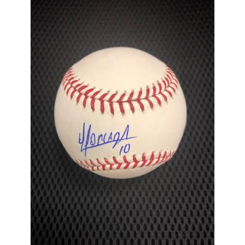 Yoan Moncada Autographed Baseball