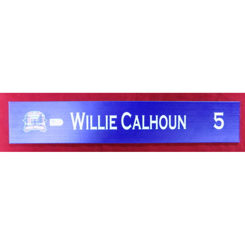Photo of Final Season Game-Used Locker Tag - Willie Calhoun - 9/13/19