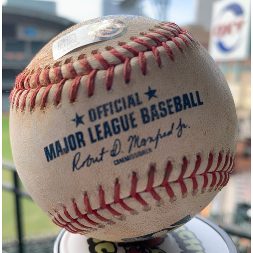 Photo of 2019 Game-Used Baseball 5/28/19 Astros vs. Cubs: Corbin Martin to Anthony Rizzo (Single to LF)-Top 1st