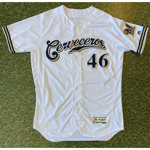 2019 Team-Issued Cerveceros Jersey: Corey Knebel #46