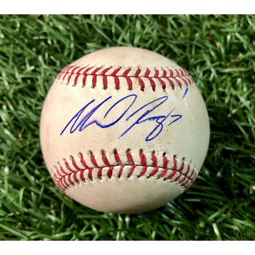 Autographed Game Used Baseball: Michael Perez MLB Debut - July 26, 2018 at BAL