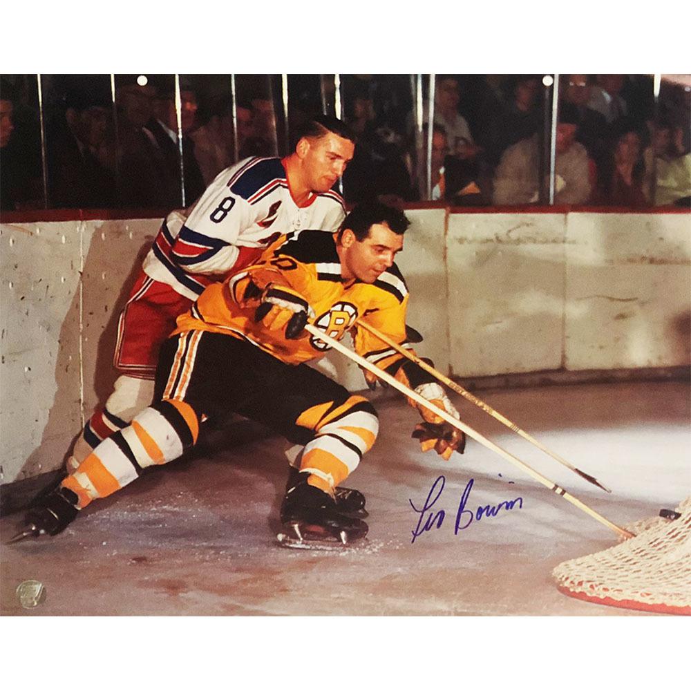 Leo Boivin Autographed Boston Bruins 11X14 Calendar Page