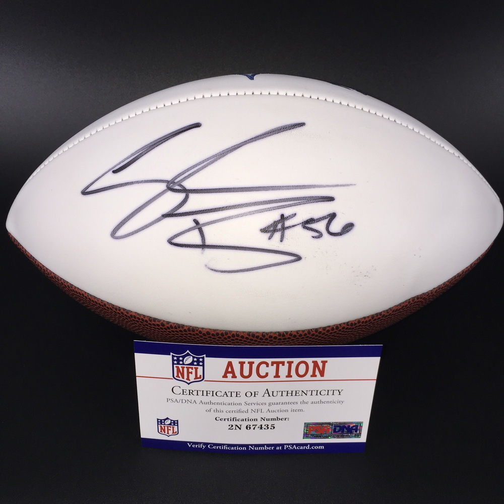 NFL - Broncos Shane Ray Signed Panel Ball W/ Broncos Logo