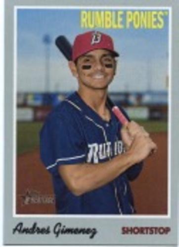 Photo of 2019 Topps Heritage Minors #82 Andres Gimenez