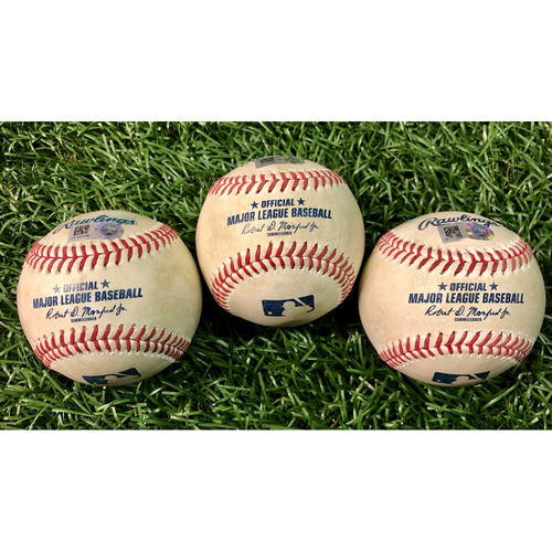 Photo of Game Used Baseball Package: Aaron Hicks, Gary Sanchez and Giovanny Urshela - August 7 & 9, 2020 v NYY