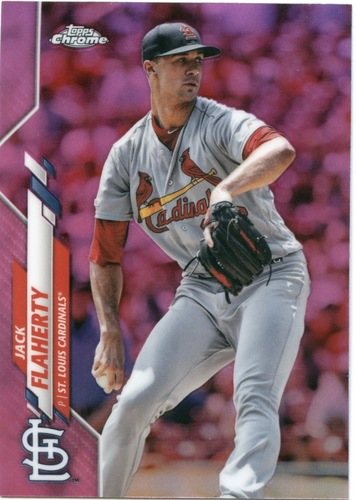 Photo of 2020 Topps Chrome Pink Refractors #135 Jack Flaherty