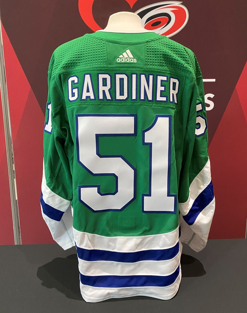 Jake Gardiner #51, game-worn Whalers jersey