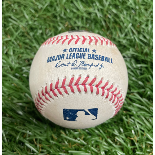 Photo of Game Used Baseball: Brent Honeywell Jr. 2-pitches (93.5 MPH & 93.3 MPH Four Seam Fastballs) to Lourdes Gurriel Jr. - Top 1 - April 24, 2021 v TOR
