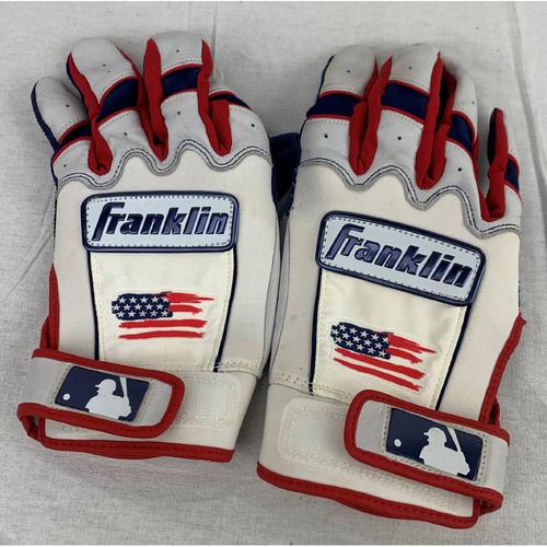 Photo of Josh Reddick Game-Used World Series Batting Gloves