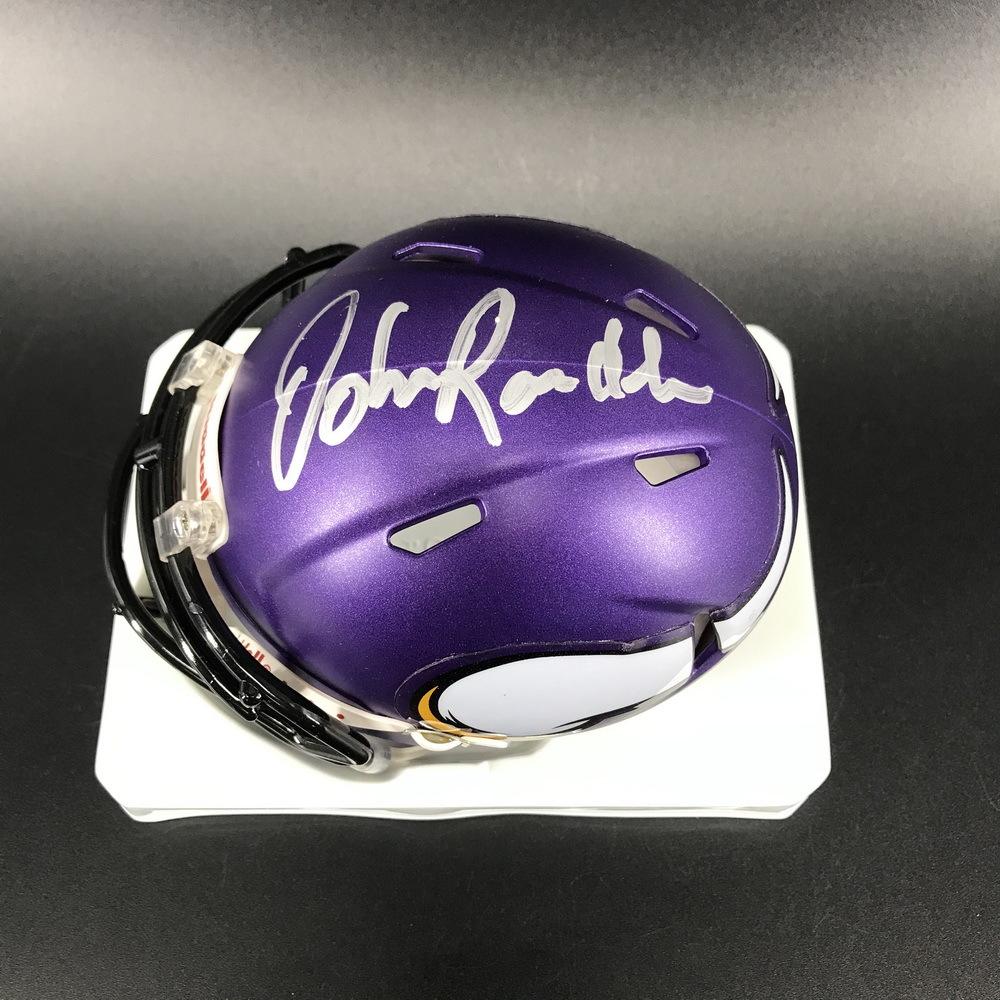 Legends - Vikings John Randle Signed Mini Helmet