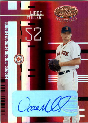 Photo of 2005 Leaf Certified Materials Mirror Autograph Red #89 Wade Miller/250 Red Sox