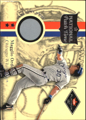 Photo of 2001 Fleer Platinum National Patch Time #41 Magglio Ordonez Gray SP S2
