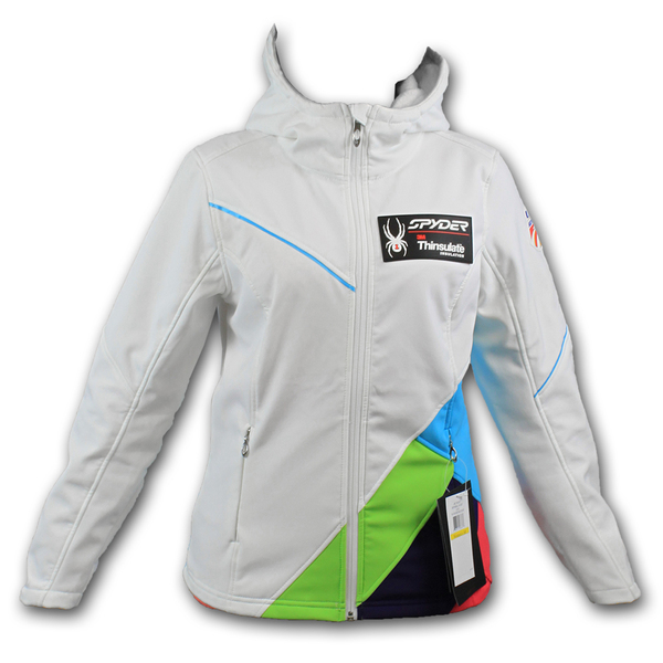 Photo of Official 2013-2014 U.S. Ski Team Spyder Women's Arc Hoody Softshell Jacket (Size Med) 1 of 5