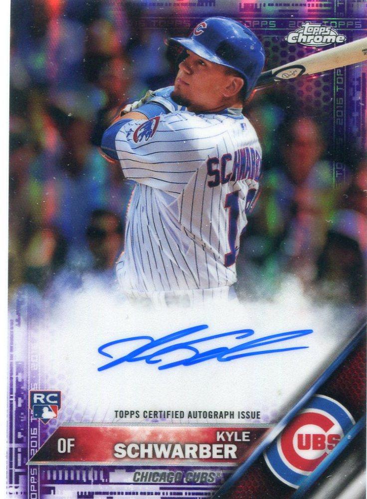 2016 Topps Chrome Rookie Autographs Purple Refractors  Kyle Schwarber 171/250