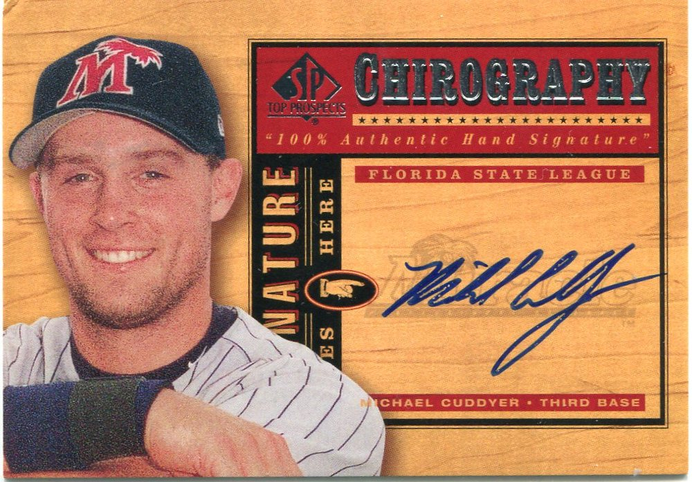 2001 SP Top Prospects Chirography #MC Michael Cuddyer